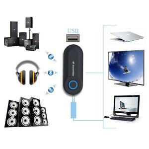 3.5MM TRANSMISOR Bluetooth Inalámbrico Audio Estéreo Música Adaptador para TV
