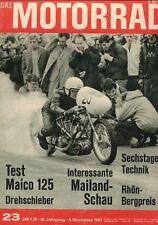 M6723 + Test MAICO Drehschieber 125 ccm + Das MOTORRAD 23/1967