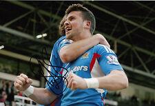 Hull City Hand Signed Shane Long 12x8 Photo.