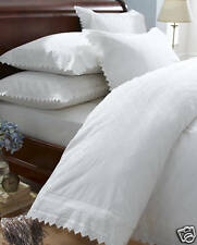 Balmoral Broderie Anglais Percale Duvet Cover and 2 Pillowcases Bedding Bed