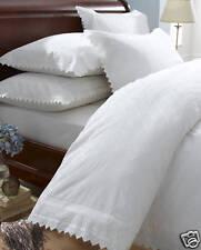 King Size Duvet Set Balmoral Broiderie Anglais White