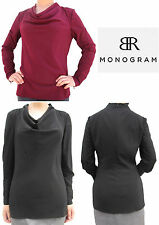 NWT Banana Republic New $79.50 Women BR Monogram Cowl neck Blouse Size 4, 6, 10