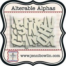 Jenni Bowlin CHIPBOARD ALTERABLE ALPHA Graph  Paint, Stain, Stamp Alphabet