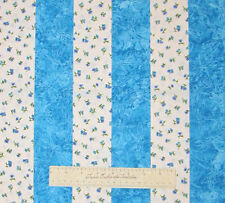 """JELLY ROLL - Small Floral Blue White Dragonfly Fabric - Cotton 14 Strips 2.5"""""""
