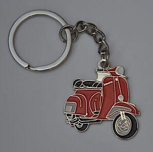 Red Vespa Scooter Mod Enamel Keyring