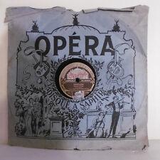 78T SAPHIR 30 cm Disque M. GENIN Phonographe GRISELIDIS Chanté OPERA 984 RARE