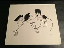 Rare Al Hirschfelds Seinfeld Hand Signed Limited Edition Lithograph BGZGF