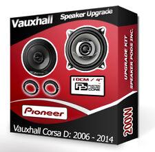 Vauxhall Corsa D Rear Door speakers Pioneer car speaker kit + adapters 200W