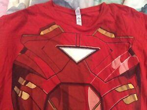 Iron Man Avengers T-Shirt XL Glow In The Dark Diamond Used