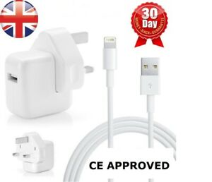 Genuine OEM Mains Wall Charger PLUG Cable For iPad iPhone 12 11 Pro X XS Max 8 7