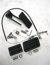 Black Aluminum Gas Pedal + Brake Clutch Pad + Black Throttle Cable & Bracket Kit