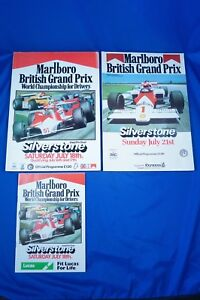 A* 1981 AND 1985 SILVERSTONE BRITISH GRAND PRIX OFFICIAL PROGRAMMES