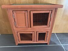 Wooden Hamster Cage Mice Rodents Hutch Small Animals 2 Levels