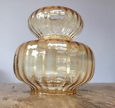 """VINTAGE SHAPED GOLD GLASS SHADE  1 3/4"""" TOP HOLE - 7 3/4"""" TALL"""