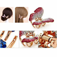 Women Butterfly Claw Crystal Rhinestone Hair Clip Clamp Hairpin Hair Accessories