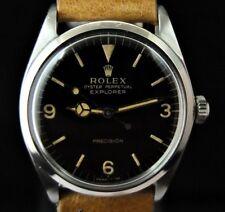 Vintage Men's Rolex 5500 Explorer Perpetual Precision Glossy Gilt Dial Warranty