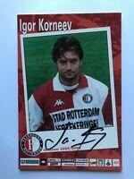 Autogramm IGOR KORNEEV-Feyenoord Rotterdam 00/01-NS RUSSLAND-Ex-FC Barcelona-AK