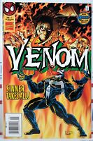 💥 VENOM SINNER TAKES ALL #1 NEWSSTAND VARIANT VF- MARVEL SPIDER-MAN Carnage