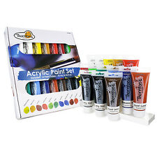 Thornton's Art Supply Acrylic Paint Tubes, Assorted Colors, 75ml, Set of 14
