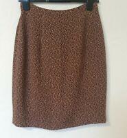 Patsy Seddon Wool Mix Regal Floral Print Lined Skirt Size 12