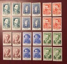 France série celebrites no 1166 a 1171 par x 4 neufs sans charnière 1958