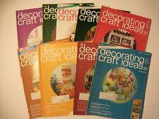 Lot of 10 DECORATING & CRAFT IDEAS 1973-Needlecrafts, painting, glass,beading et