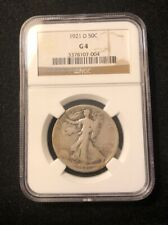 1921-D 50C Walking Liberty Silver Half Dollar NGC G4