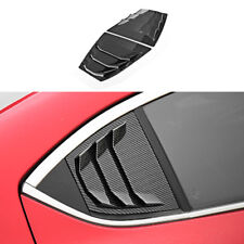 Carbon fiber color Rear Quarter Panel Window Side Louvers Vent fit for Mazda3 4D