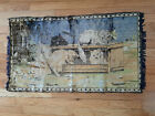 """Vintage Tapestry Wall Hanging Four Cats 36"""" x 21"""" Italy"""
