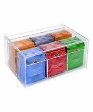 Home-it Acrylic Tea Bag Holder 6 Compact Organizer (Clear)