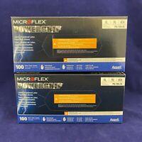 Set of 200: XL Microflex Powergrip Latex Gloves PG199XL Free Ship IN STOCK!