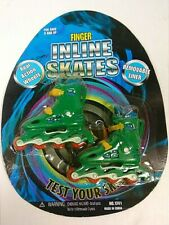 Green Finger Inline skates  With Removable Liner & Real Action Wheels / Ages 5+