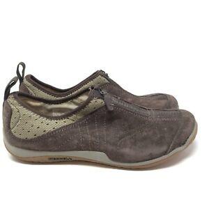 Merrell Lorelei Women's Size 9 Brown Suede Leather Zip Espresso Comfort Shoes