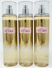 3 BATH & BODY WORKS IN THE STARS FINE FRAGRANCE MIST BODY SPRAY 8OZ LARGE GOLD
