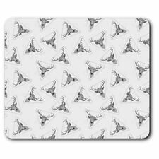Rectangle Mouse Mat BW - Beautiful Stag Deer Hippy Animals Wild  #41050