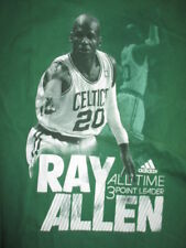 Adidas RAY ALLEN No. 20 BOSTON CELTICS All-Time 3 Point Leader (2XL) T-Shirt