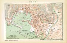 Mappa della città di Genova 1894 originale-grafica