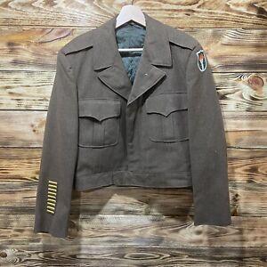 Vintage WW2 Field Jacket With Patch Size 44