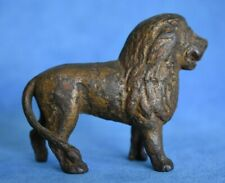 Antique Victorian Metal Lion Still Bank Figure No Screw?