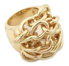 Zest Chunky Golden Rope Chain Cluster Ring Medium