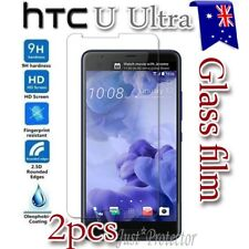 2x HTC U Ultra Tempered Glass / Plastic LCD Screen Protector Film Guard