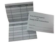 5 Debit Card Registers ATM Mini Checkbook Registers