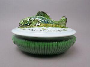 Pesce Terrina Heringstopfdeckeldose Pesce Ceramica Francia