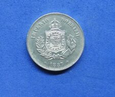 LB) Brazil Brasil -  50 Reis 1887 KM#482  NICE COIN    GOOD DATE