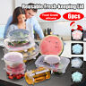 6PCS Reusable Silicone Stretch Lids Seal Bowl Wraps Food Fresh Covers Keep