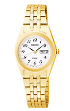 Seiko Solar Women's Analog Display Japanese Quartz Gold Watch SUT118