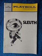 Sleuth - Music Box Theatre Playbill - March 1971 - Anthony Quayle - Keith Baxter