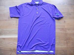 NWT Turtleson Golf Polo Shirt Purple with Polka Dots FireRock Logo Medium