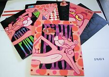 6x~New~Vintage~1998~Pink Panther~Folder Set~Binder~3 Ring~Rare~School~Collecto rs