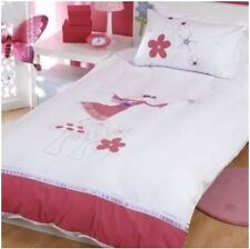 Fairy Ballerina Embroidered Doona Quilt Cover Sgle NEW